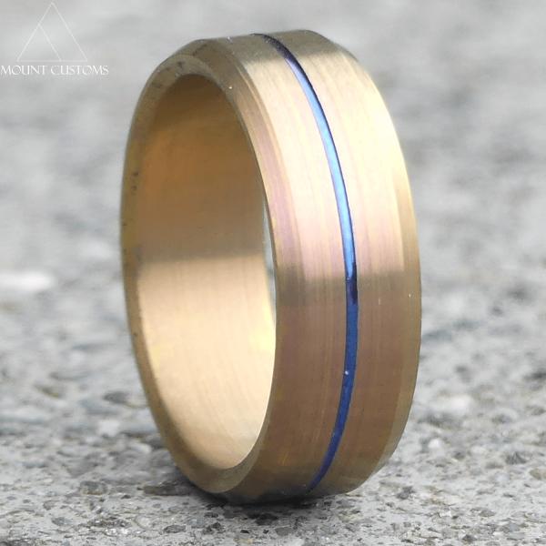Blue Amber Fade Titanium